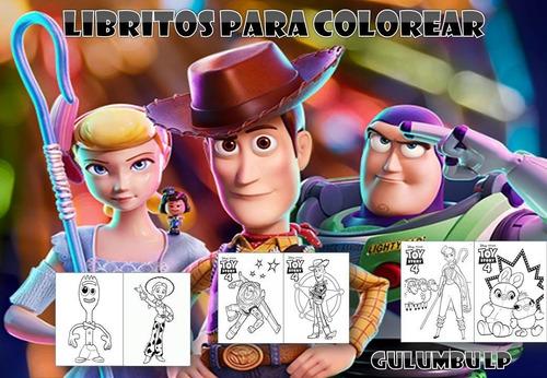 kit imprimible libritos colorear toy story 4 imprimi en casa