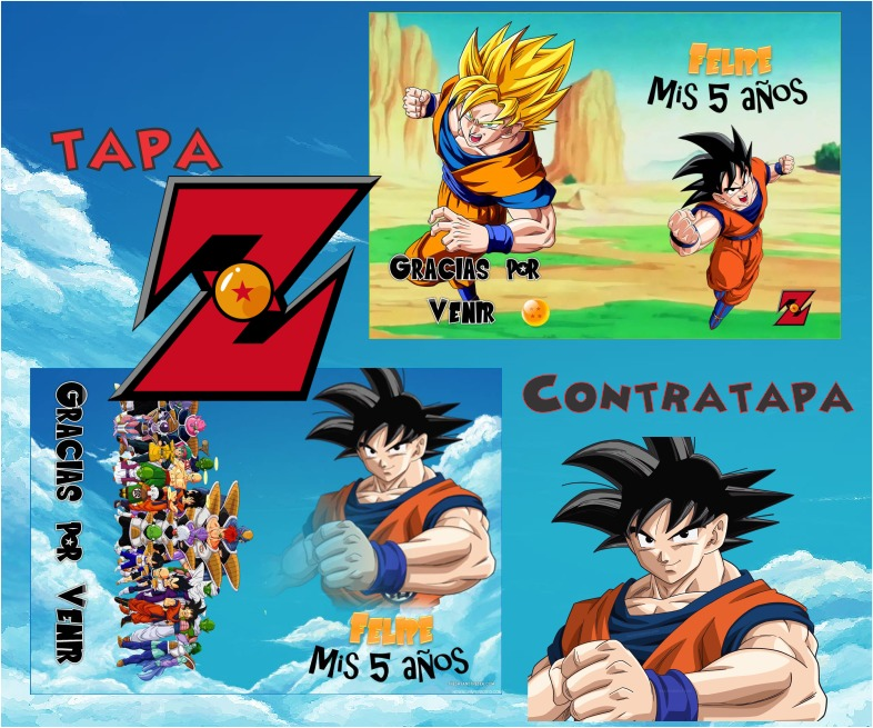 Kit Imprimible Libritos Dragon Ball Z Imprimir Y Pintar 2*1