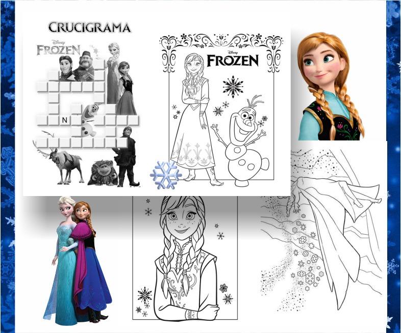 Kit Imprimible Libritos Frozen Para Pintar Y Actividades - $ 65,00 ...