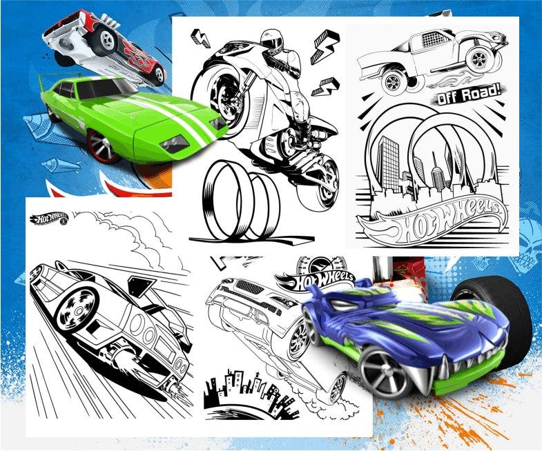 Kit Imprimible Libritos Para Colorear Actividades Hot Wheels - $ 65 ...