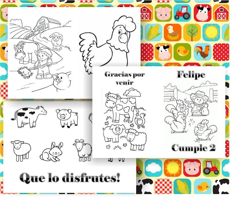Kit Imprimible Libritos Para Colorear Animales De La Granja - $ 65 ...