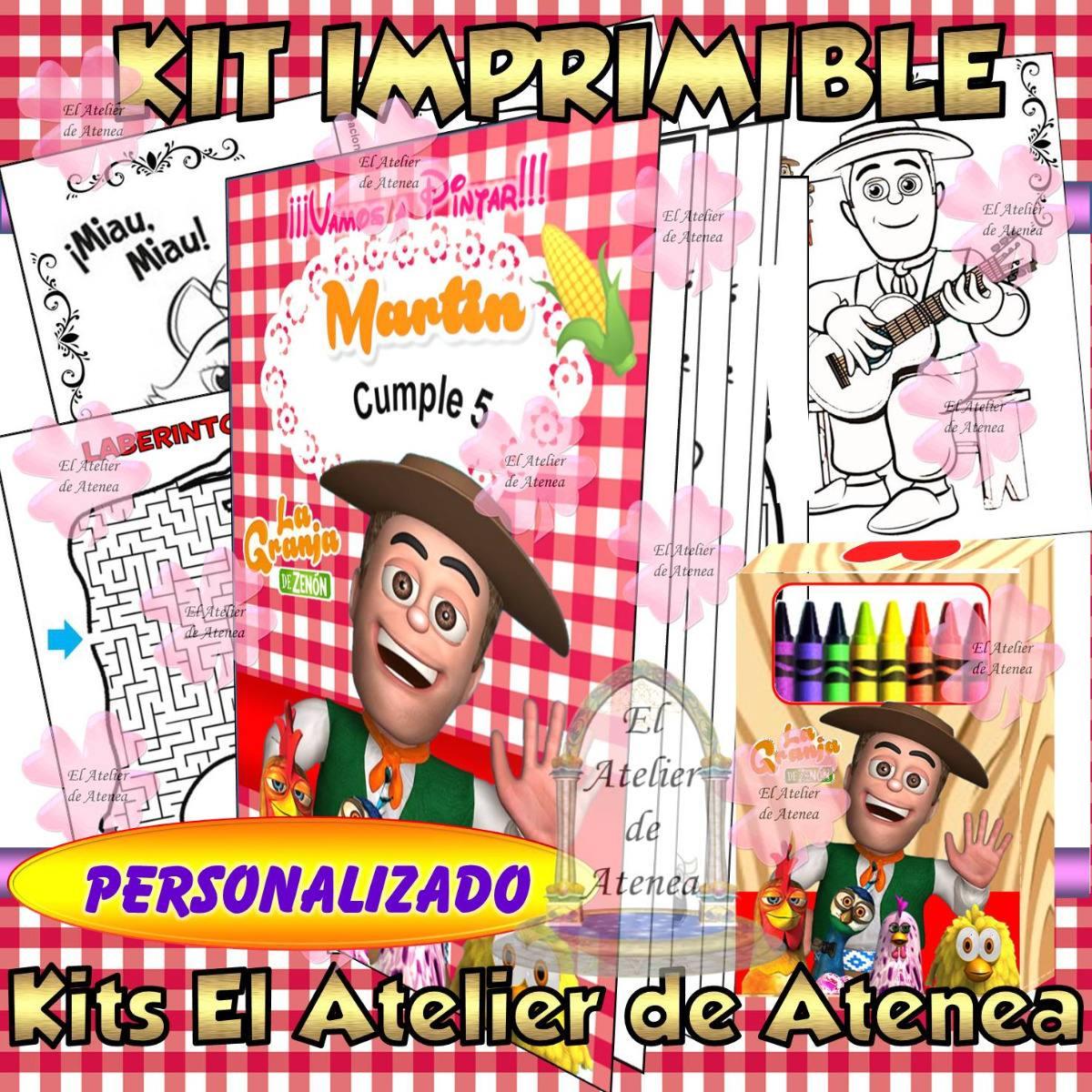 Kit Imprimible Libro Para Colorear Canciones De La Granja - $ 95,00 ...