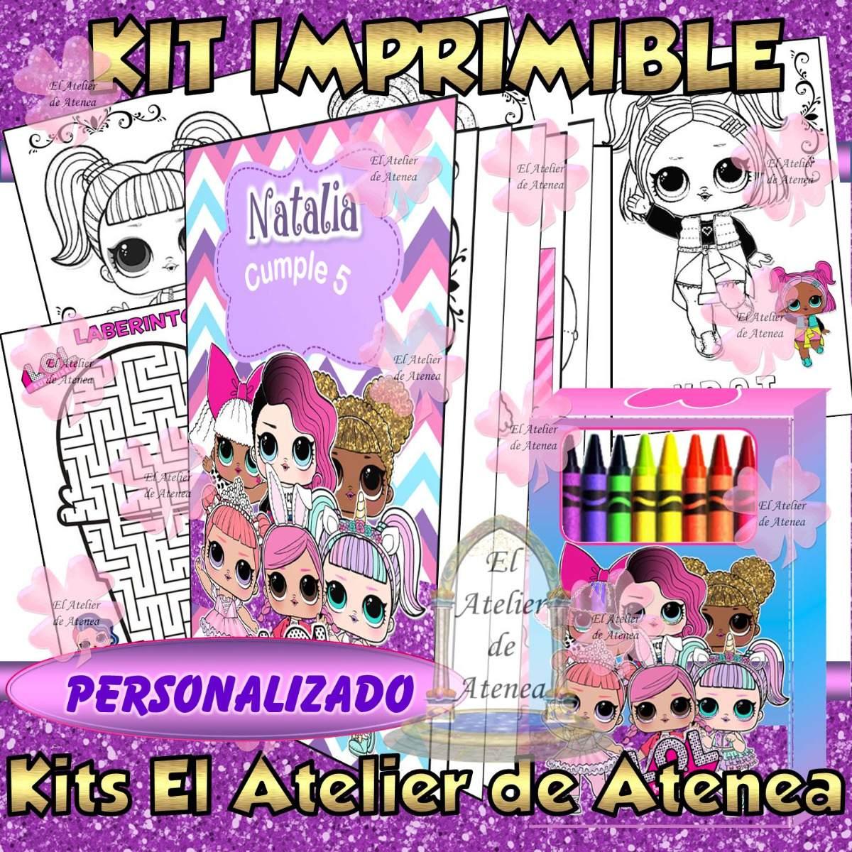 Kit Imprimible Libro Para Colorear Lol Surprise Personalizad 100