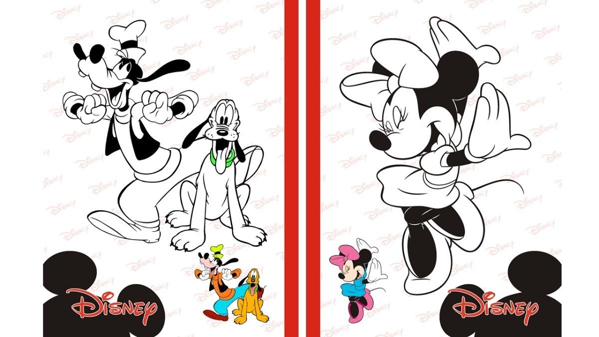 Kit Imprimible Libro Para Pintar Colorear Mickey Ysus Amigos