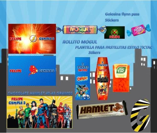 kit imprimible liga de la justicia superheroes cotillón 2x1