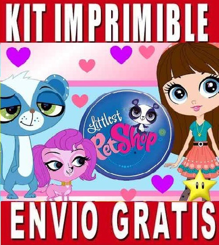 kit imprimible littlest pet shop diseña invitaciones