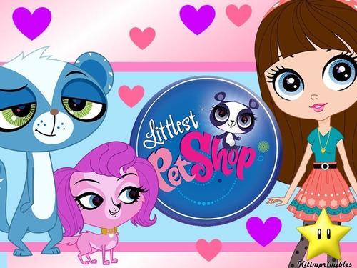 kit imprimible littlest pet shop diseñá tarjetas cumples
