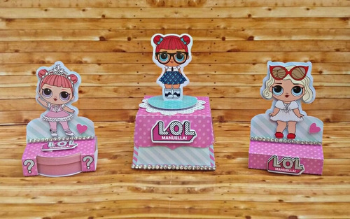 kit imprimible lol surprise fiesta cumpleaños cotillon