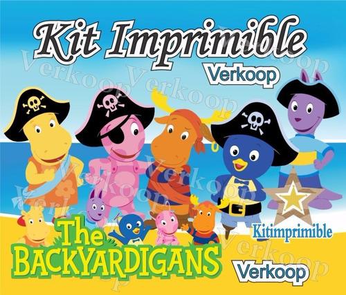 kit imprimible los backyardigans + candy bar fiesta