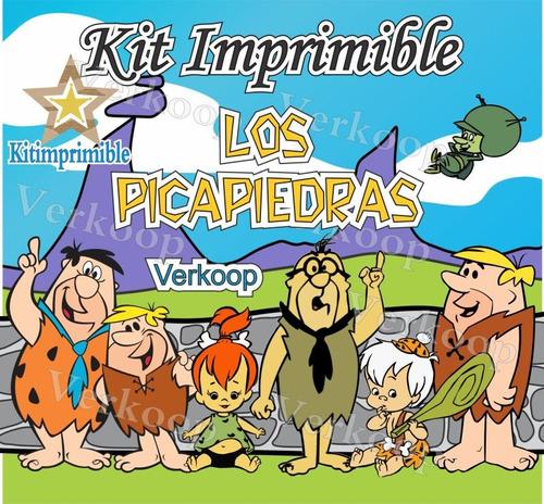kit imprimible los picapiedras the flintstones candy bar