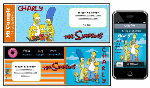 kit imprimible los simpsons 100% personalizado