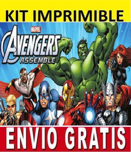 kit imprimible los vengadores avengers diseña invitaciones b