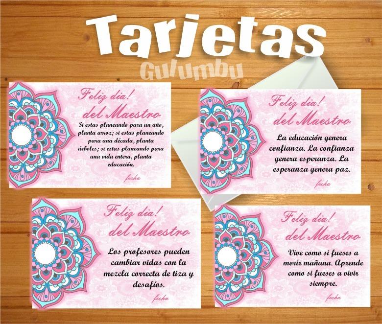 Kit Imprimible Mandalas Rosa Dia Del Maestro Maestra Docente