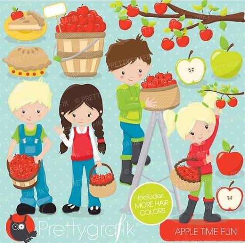 kit imprimible manzanas imagenes clipart cod 2