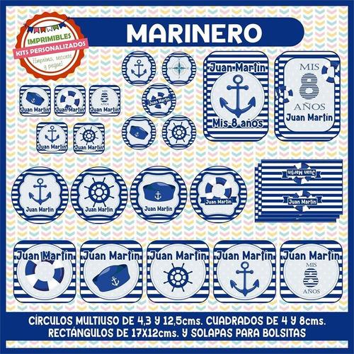 kit imprimible marinero