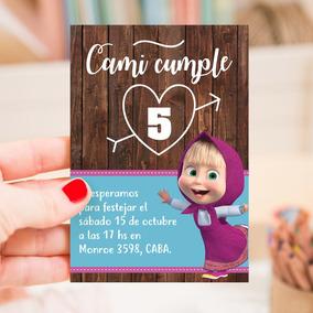 Kit Imprimible Masha Y El Oso Candy Bar Invitacion Deco