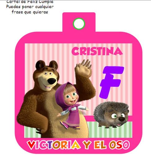 kit imprimible masha y el oso diseña tarjetas y mas