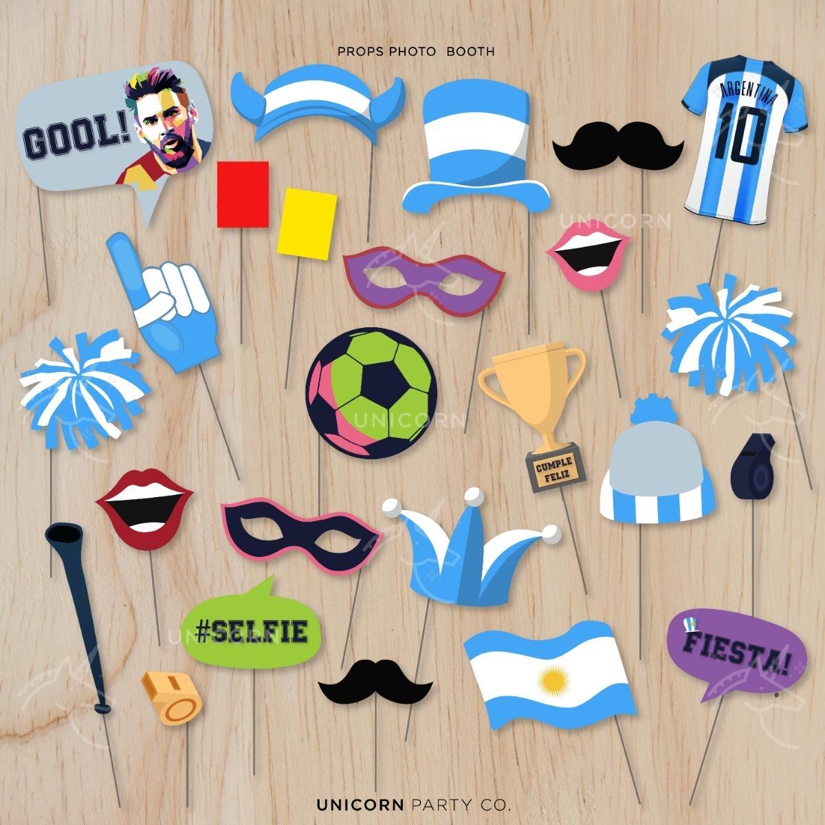 Kit Imprimible Messi Fiesta Cumpleaños Fútbol Invitación