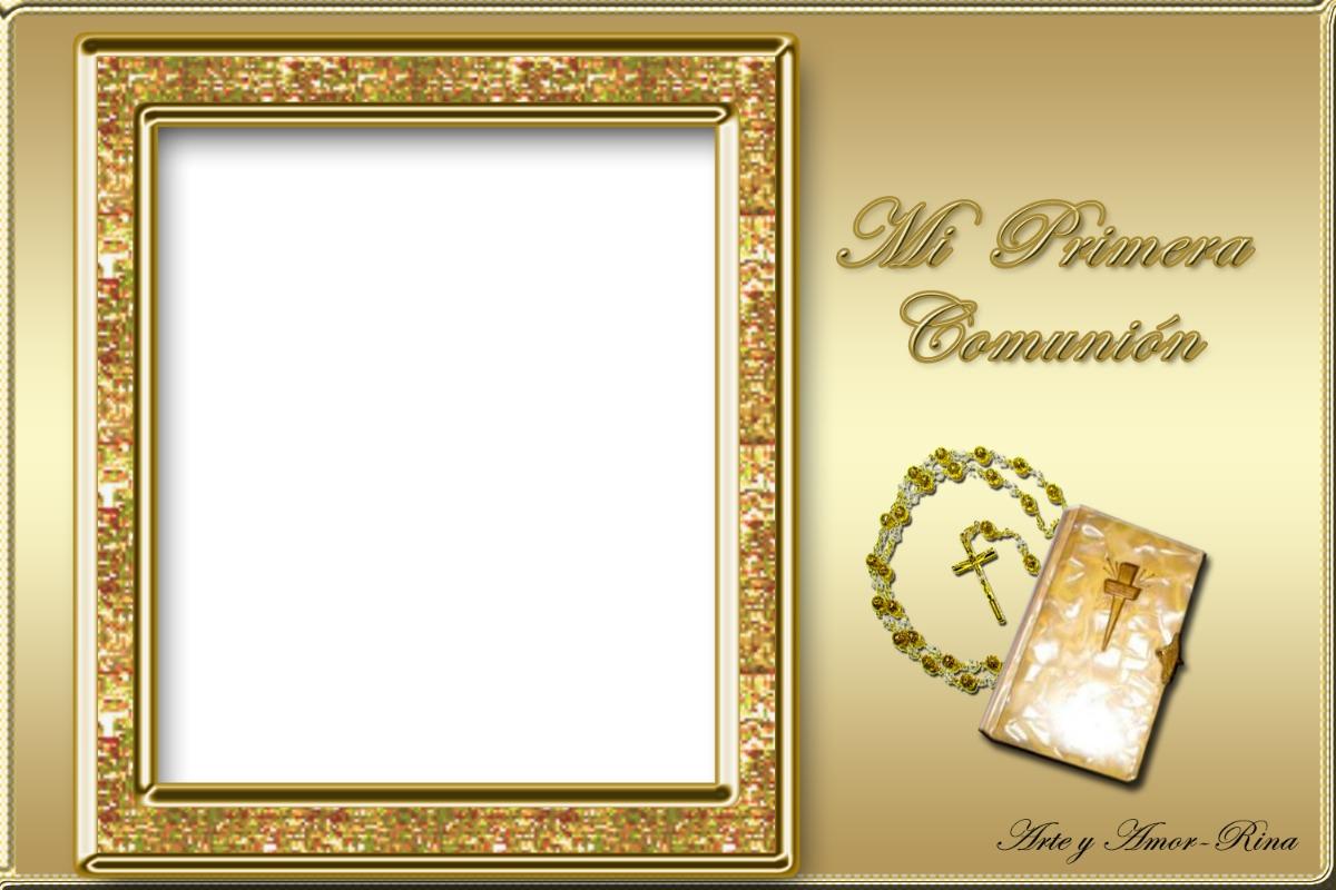 Kit Imprimible Mi 1º Comunion + Marco + Kitt En Blanco - $ 44,99 en ...
