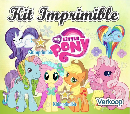 kit imprimible mi pequeño pony my little ponny candy bar