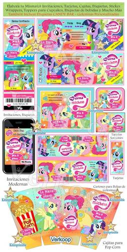 kit imprimible mi pequeño pony my little ponny + candy bar