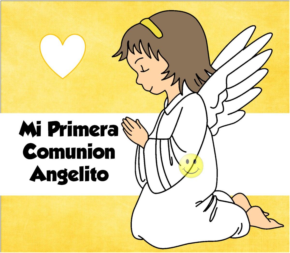 kit imprimible mi primera comunion angelito nena - $ 26,00 en