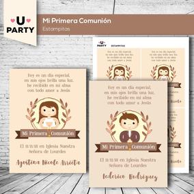 Kit Imprimible Mi Primera Comunión Estampitas Candy Bar