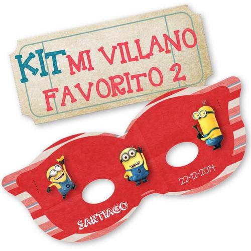 kit imprimible mi villano favorito 2 - candy bar - editable