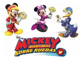 Kit Imprimible Mickey Aventuras Sobre Ruedas Candy Bar