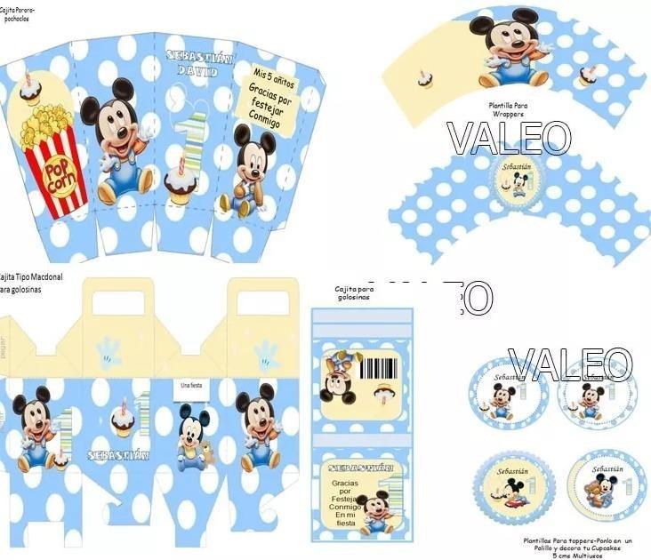 Kit Imprimible Mickey Bebe Disney Candy Bar Nuevo - $ 50,00 en ...