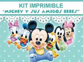 Kit Imprimible Mickey Bebe Y Sus Amigos Candybar Golosinas