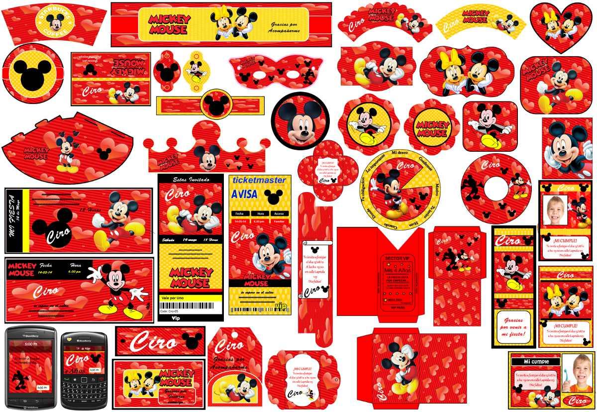 Kit Imprimible Mickey Corazon Candy Cajas Pizarra Y Mas 2x1 - $ 53 ...