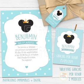 Kit Imprimible Mickey Corona Principe Decoración Cumpleaños