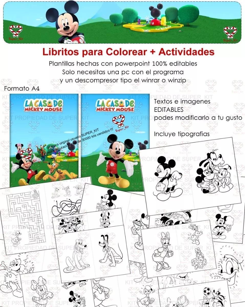 Kit Imprimible Mickey Mickey Bebe Mickey Sobre Ruedas 6 En 1