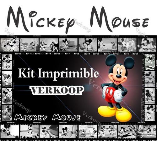 kit imprimible mickey micky mouse invitaciones tarjetas