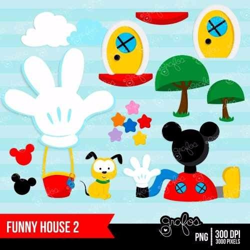 kit imprimible mickey mouse clubhouse 2 imagenes clipart