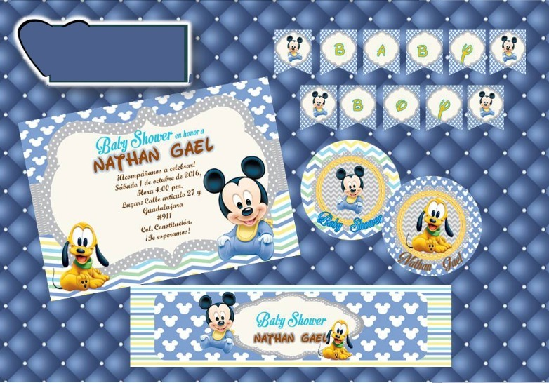 Ideas Para Baby Shower De Mickey Mouse Bebe