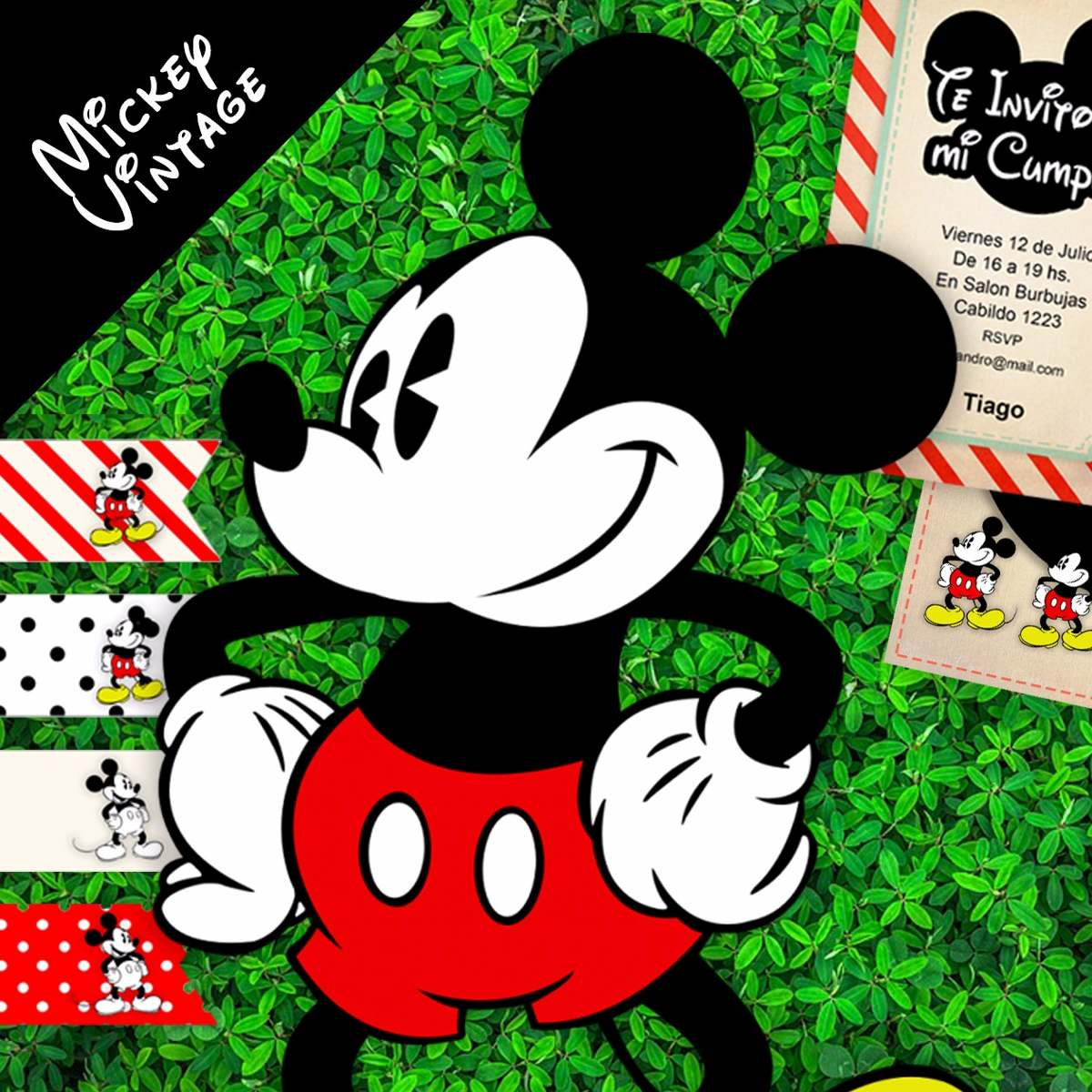 Atractivo Cenefa Mickey Mouse Composición - Ideas de Decoración de ...