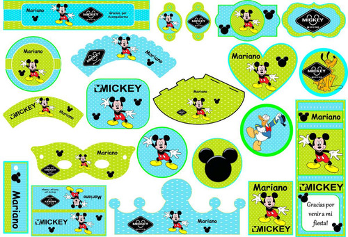 kit imprimible mini candy mickey mouse! 2x1 imperdible