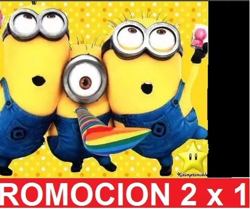 kit imprimible minions mi villano favorito 2 cumple invi 2x1