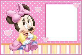 Kit Imprimible Minnie Bebé Bolsitas Invitaciones Candy