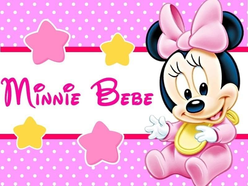kit imprimible minnie bebe disney candy bar tarjetas y mas 1 - Disney Bebe