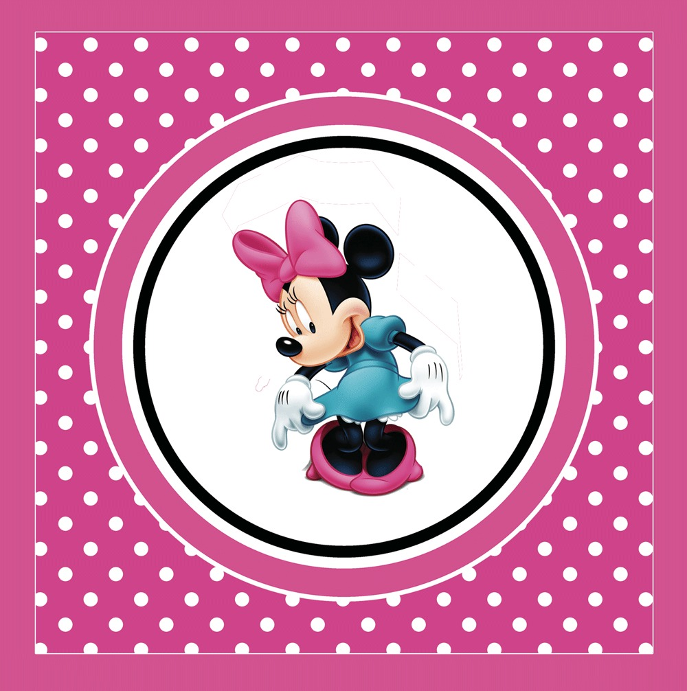 Kit Imprimible Minnie Disney Candy Bar Invitaciones Deco - $ 99,00 ...