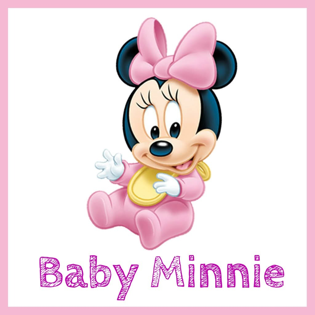Kit Imprimible Minnie Mouse Baby Rosa Candy Bar 1500 en