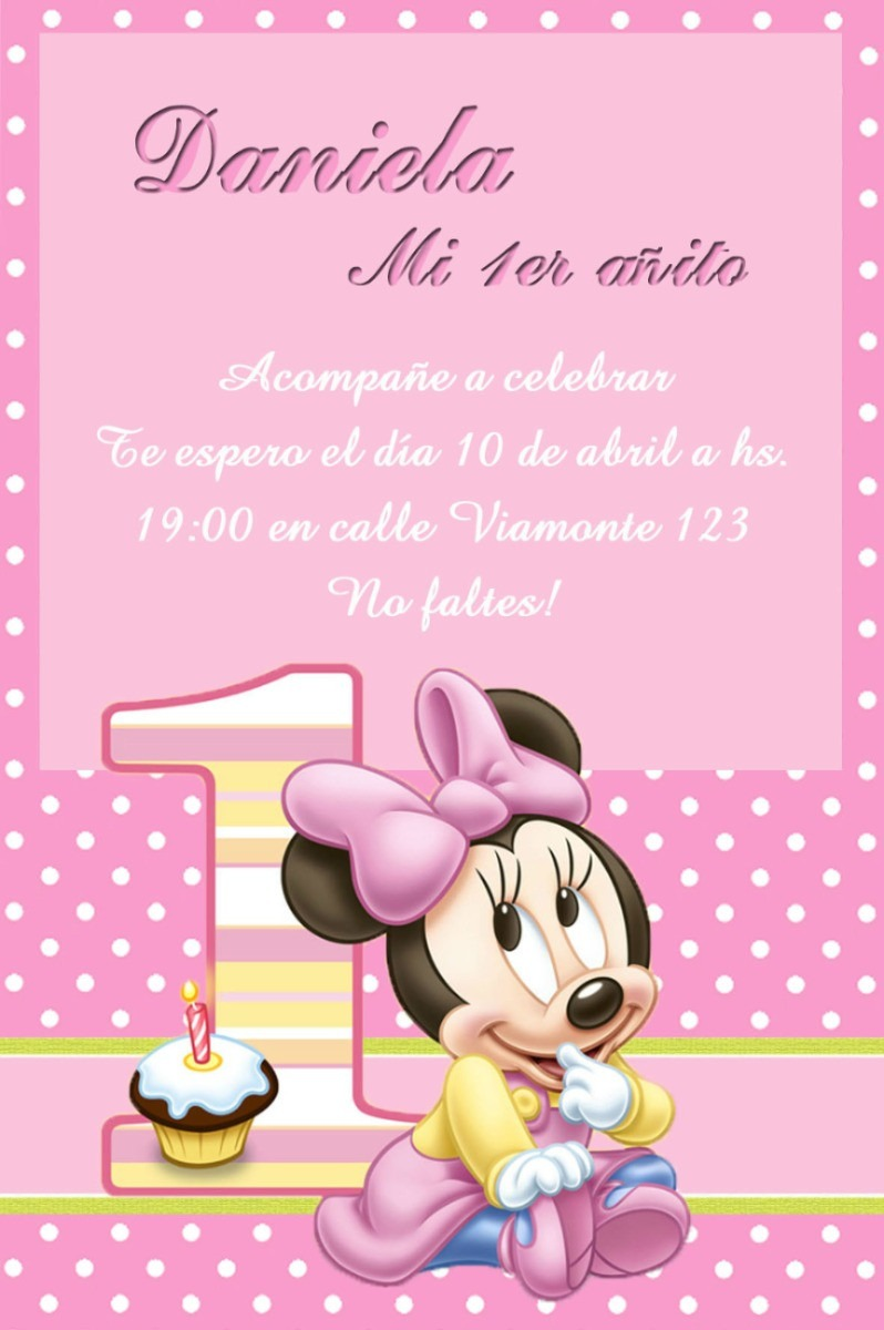 Kit Imprimible Minnie Mouse Bebe Tarjetas Cajitas Y Mas