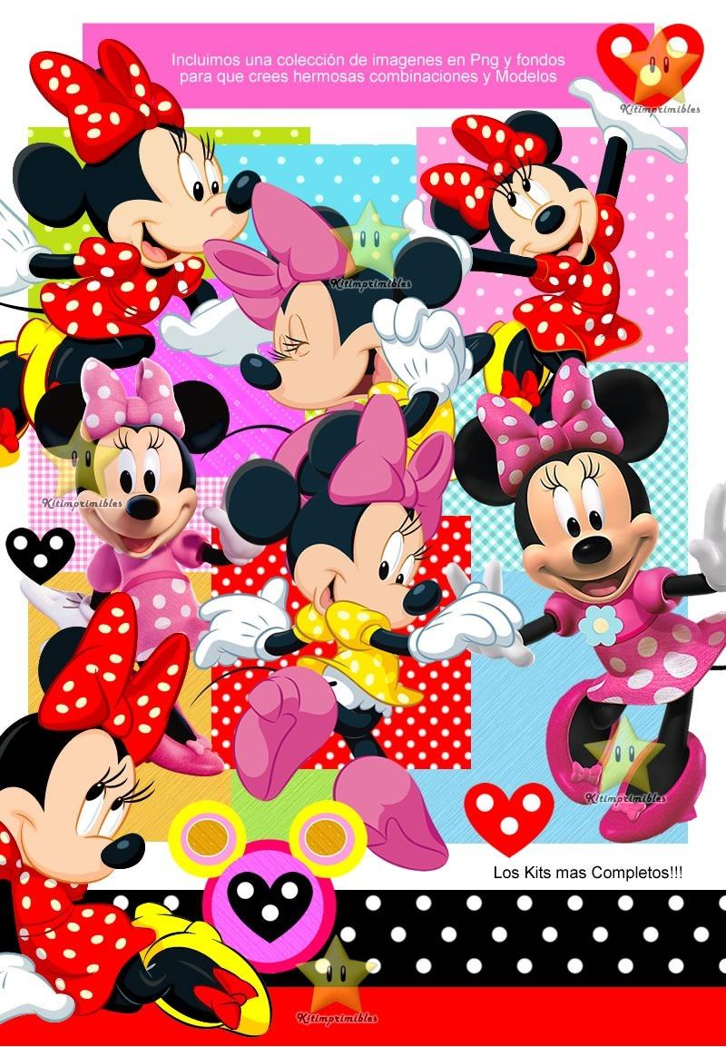 Kit Imprimible Minnie Mouse Cumple Tarjetas Invitacion Cod02