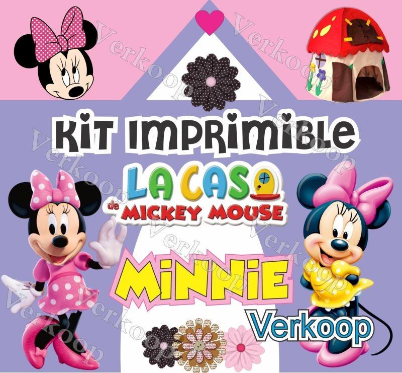 Kit Imprimible Minnie Mouse De La Casa De Mickey Exclusivo - S/ 35 ...