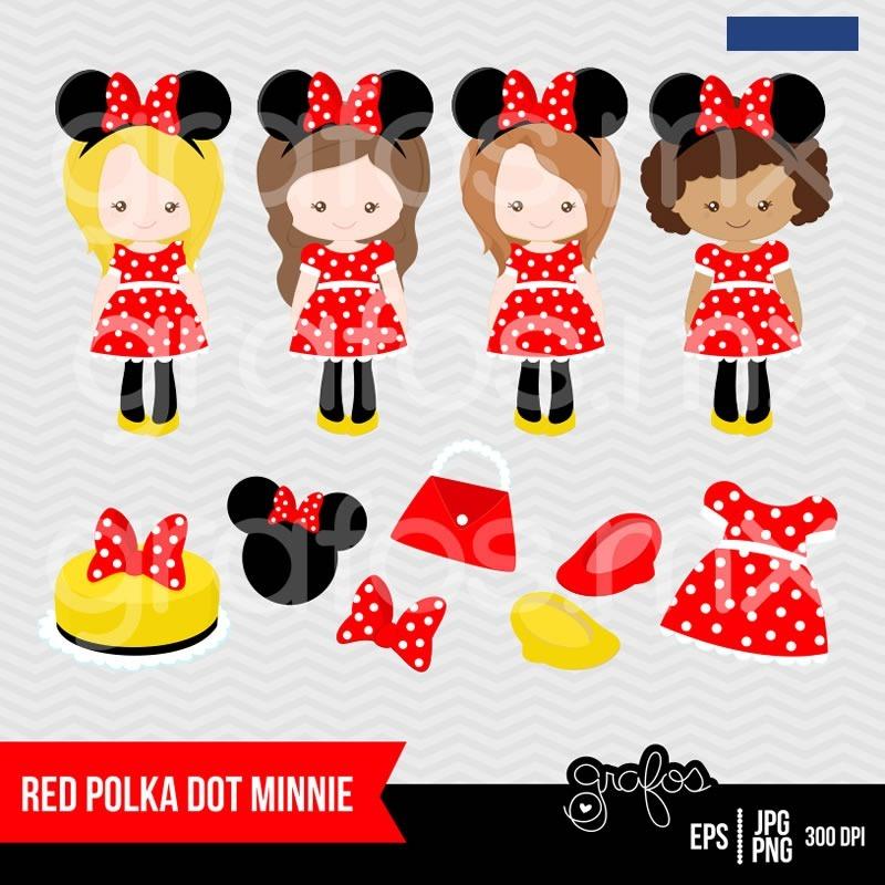 Kit Imprimible Minnie Mouse Disney 4 Imagenes Clipart - $ 17,00 en ...