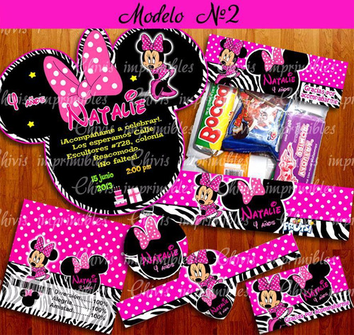 kit imprimible minnie mouse mimi cebra 3