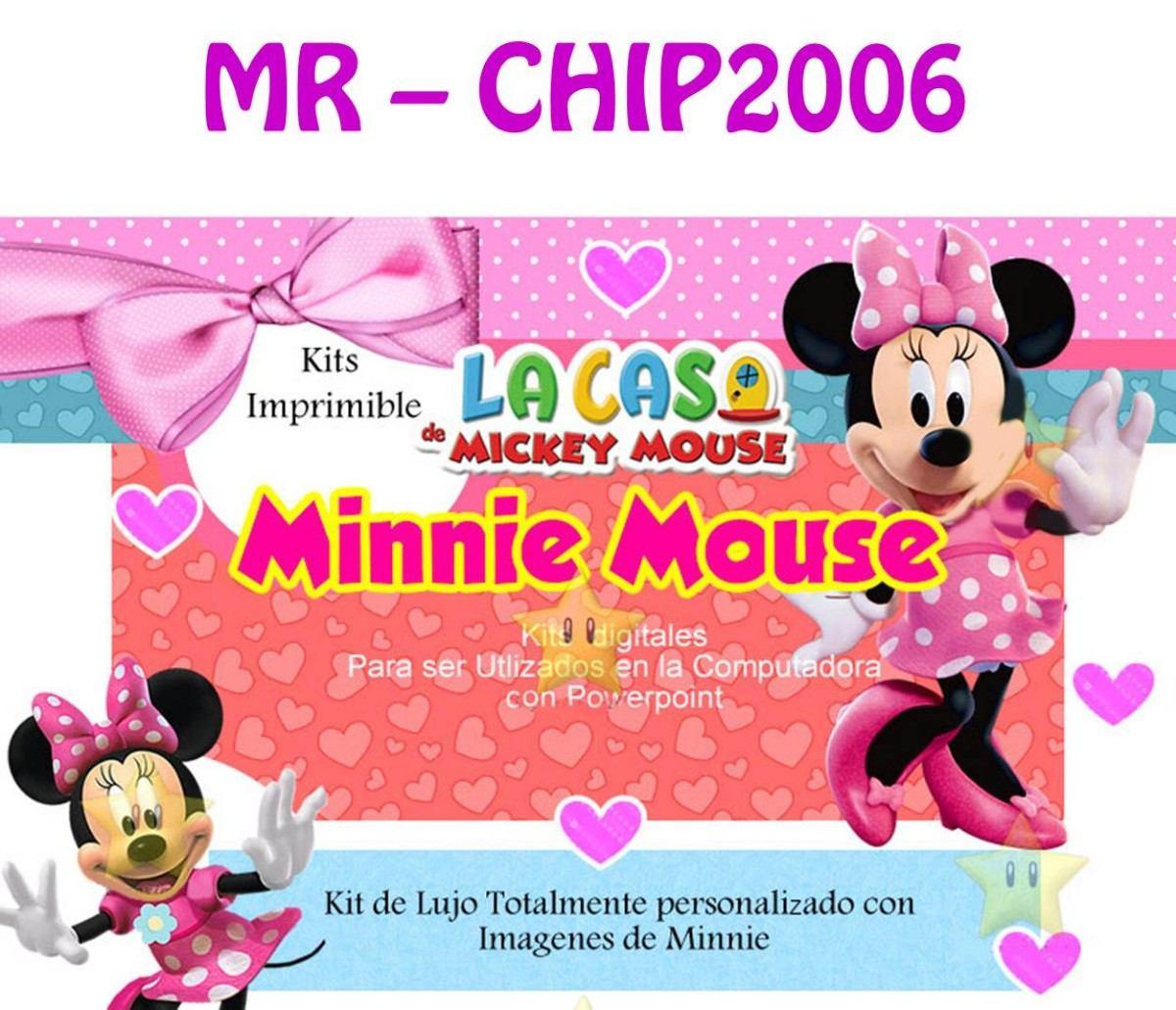 Kit Imprimible Minnie Rosa De La Casa De Mickey Mouse - Bs. 15.000 ...